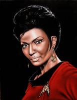 Lt. Uhura on black velvet by BruceWhite