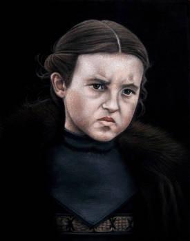 Lyanna Mormont, acrylic on black velvet painting
