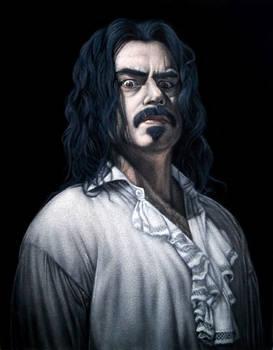Vladislav the Poker  black velvet painting
