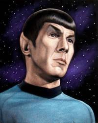 Nimoy as Spock black velvet painting