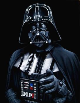 Lord Vader, 2019 black velvet painting