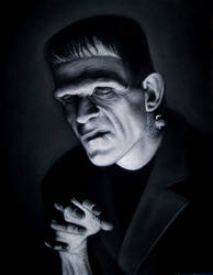 The Monster black velvet painting
