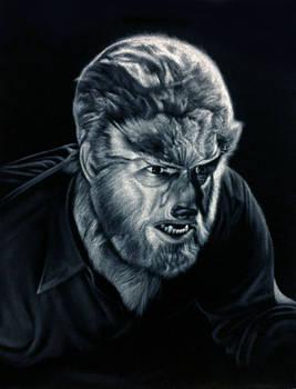 The Wolf Man black velvet painting