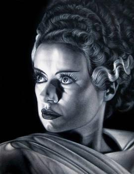 Bride of the Monster black velvet painting