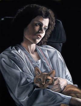 Ripley and Jonesy  black velvet painting
