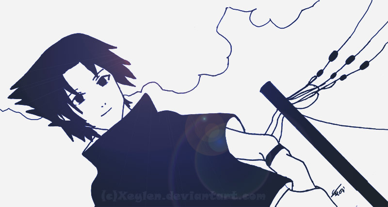 Uchiha Sasuke - I Smile to You by Xeylen
