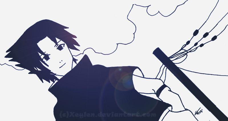 Uchiha Sasuke - I Smile to You by Xeylen