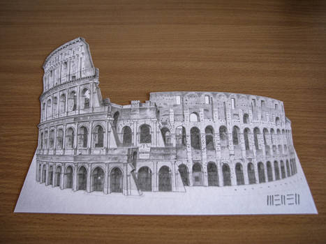 Colosseo 3D drawing