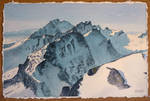 Tatra mountains watercolor