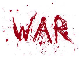 WAR typography by Bella-B