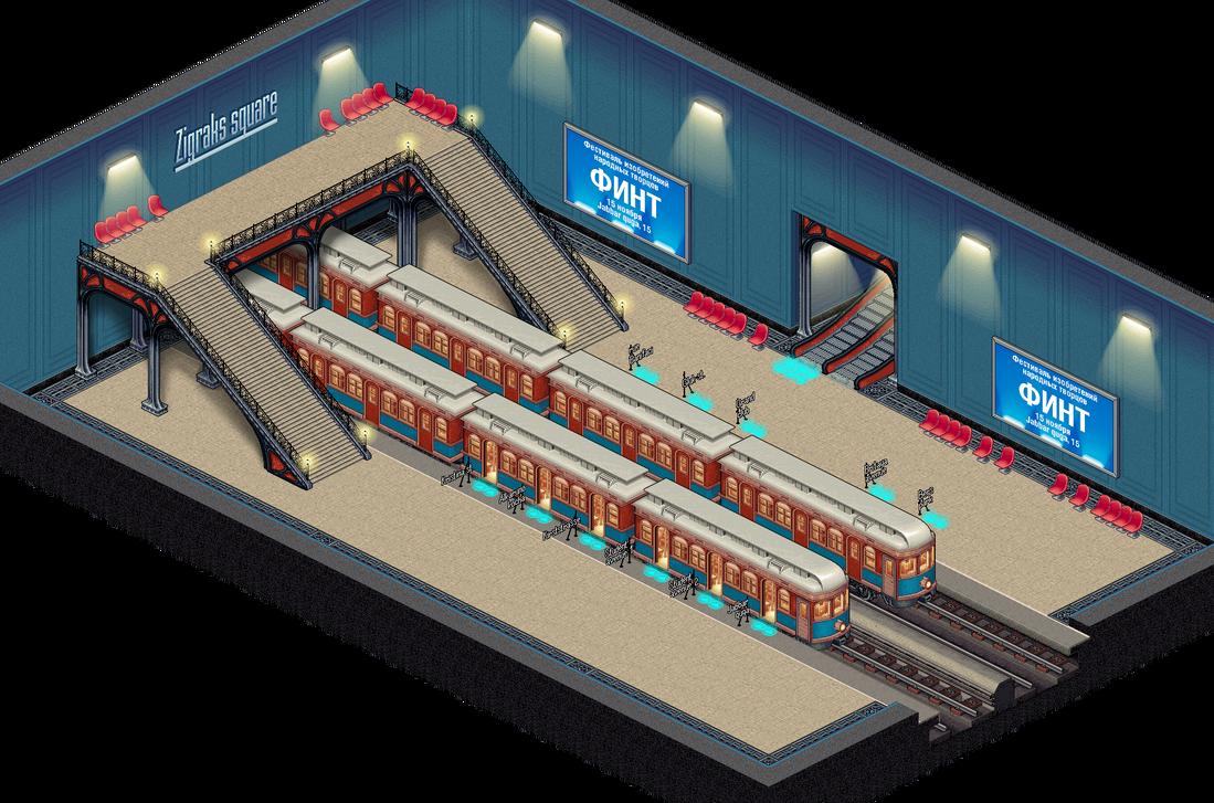 Scene Metro by Mangust-art