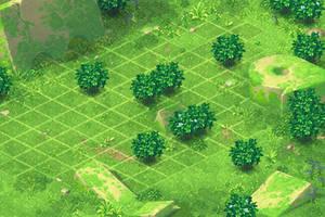 Scene for Battle. Green2 by Mangust-art