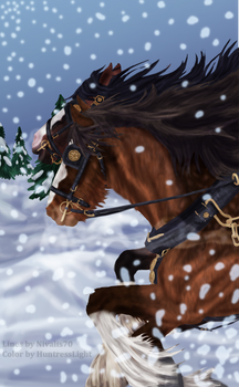 Shire Horses and Snowflakes - Collaboration