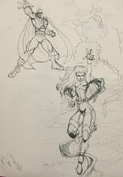 Magneto and Storm