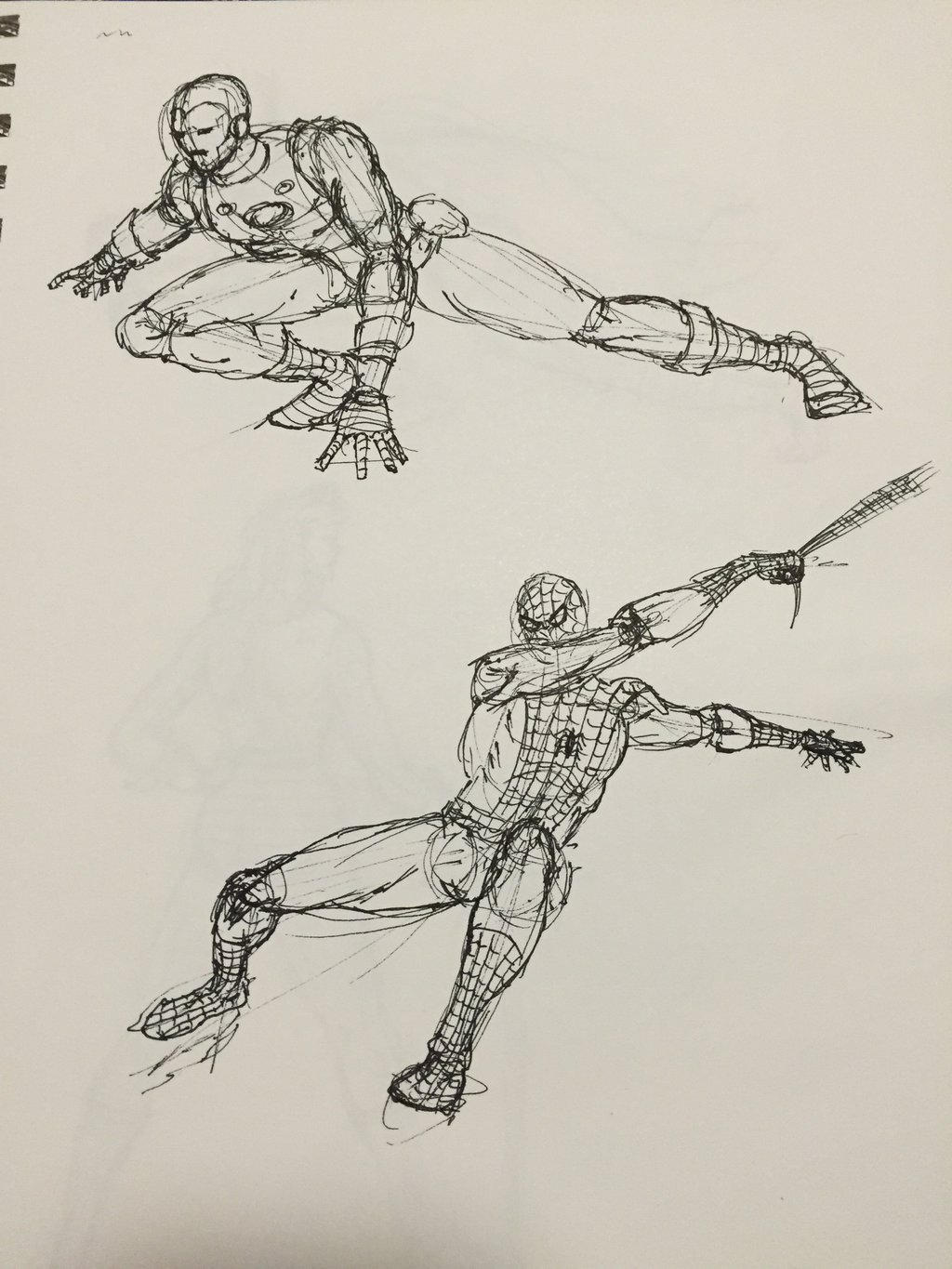 Spiderman and Ironman by Artfoundry