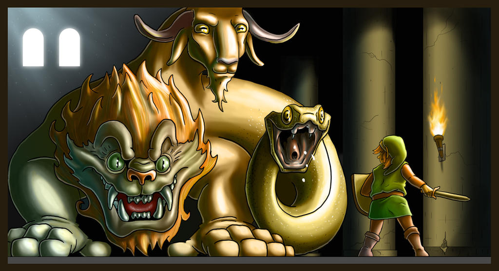 Link VS Chimera by The-nostalgia-runs