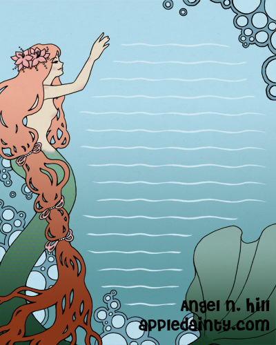 Mermaid Stationary by AppleDainty