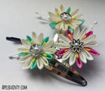 Clematis Kanzashi Hairpins and Clips