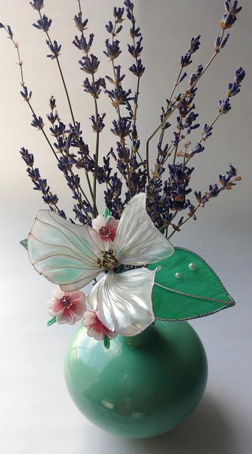 Trillium and Cherry Blossom I