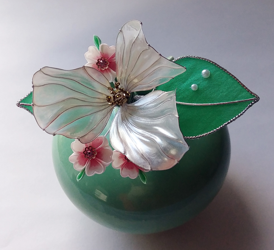 Trillium and Cherry Blossom II