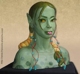 Reptilian girl by Planchu