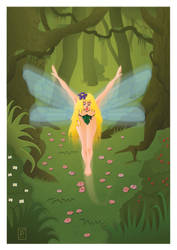 Forest flying fairy