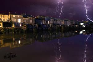 025 Orage sur la charente - storm lightning-St sav by Loplasticien