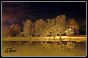 French HDR river - La riviere charente de nuit