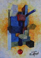Perpective oil canvas - ma periode cubique by Loplasticien
