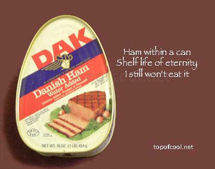 Haiku About Stuff: Canned Ham by EarwigOfJustice