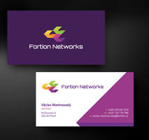 Fortion Networks bussines card by skorky