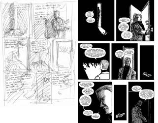 The Devil and The Detective #3 Page 5 Process by JJ422