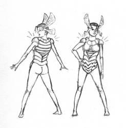 Alien Fashion Design Pencils by JJ422