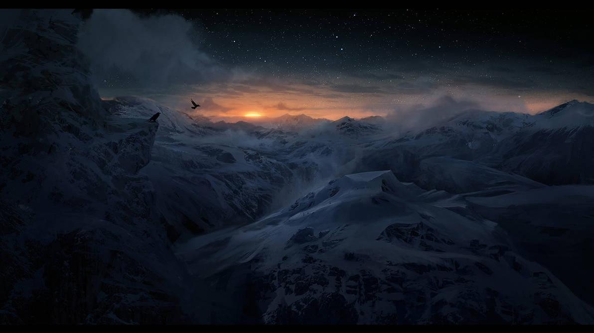 Sunrise Mountains by Lapec