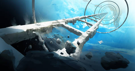 Space Station by Lapec