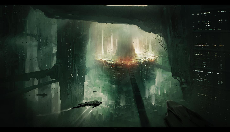 Sci-fi City by Lapec