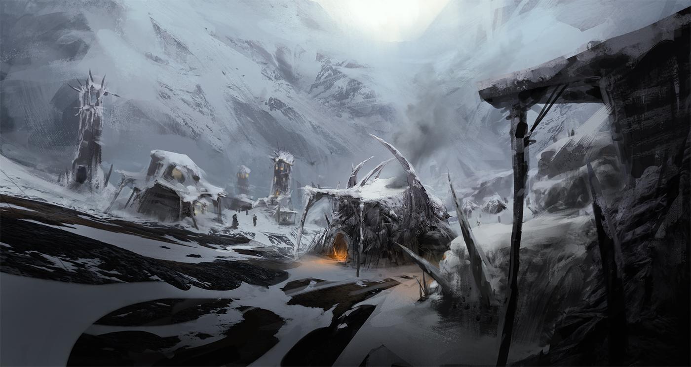 Mountain Village by Lapec