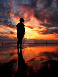 Watching Sunset by bgunzhang