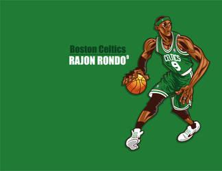 Rajon Rondo by Vin-Rock