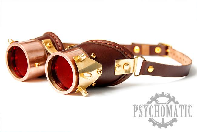 Copper steampunk goggles by LahmatTea
