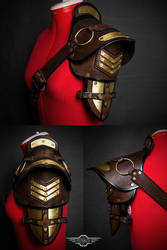 Steampunk shoulder pad final by LahmatTea