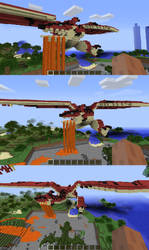 Minecraft Rathalos by squadra1317