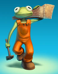 Frogs VS Rabbits - The Carpenter by WillDan