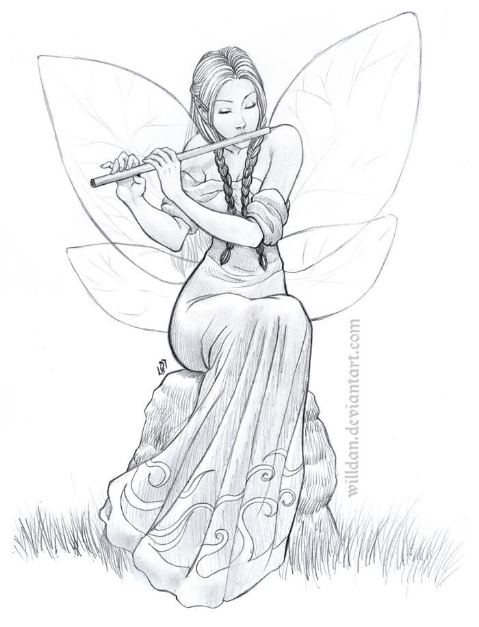 Flutist Fairy by WillDan on DeviantArt