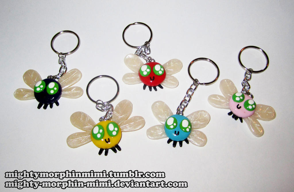 Parasprite Keychains by Mighty-Morphin-Mimi
