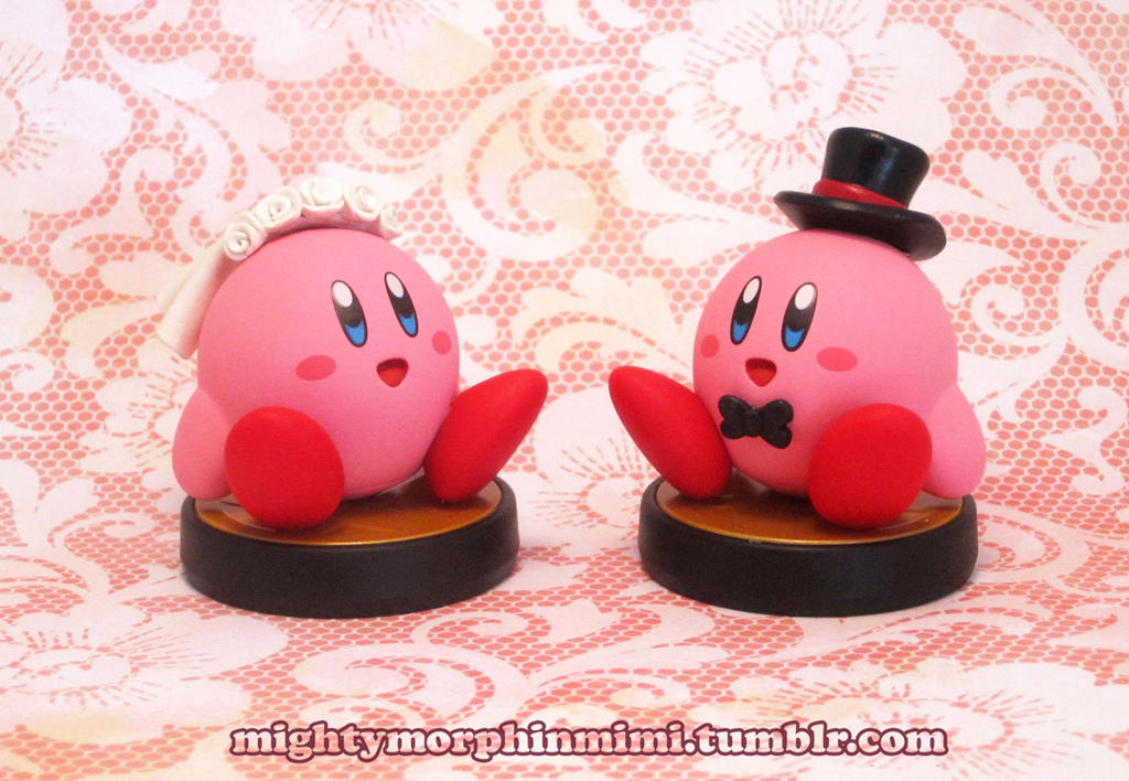 Commission:Customized Bride and Groom Kirby Amiibo