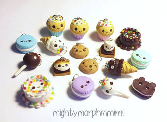 Miniature Food Charms by Mighty-Morphin-Mimi