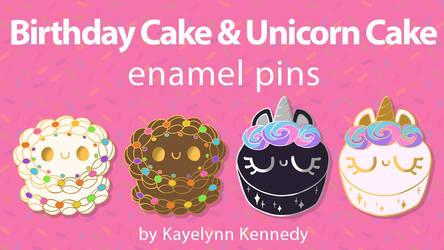 Cake Enamel Pins Kickstarter
