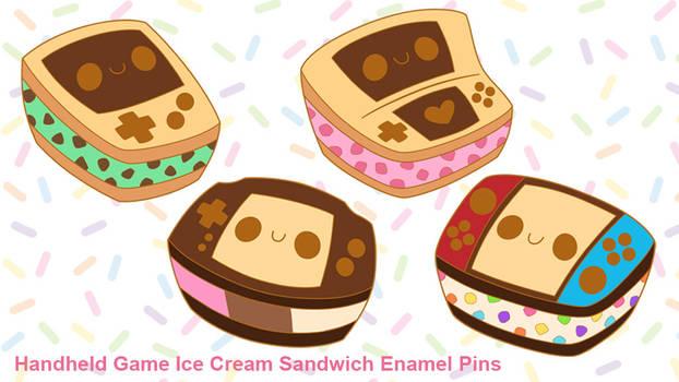 Handheld Game Enamel Pin Kickstarter