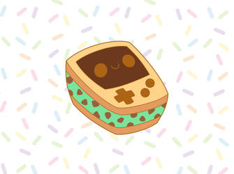 Mint Ice Cream Gameboy Enamel Pin Kickstarter